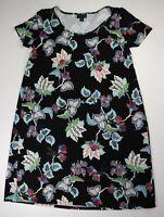 J Jill Wearever Collection Black Multicolor Pencil Floral Dress Size XS
