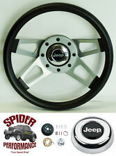 """1967-1975 CJ5 CJ6 steering wheel JEEP 13 1/2"""" 4 SPOKE steering wheel"""