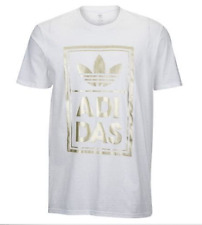 ADIDAS BOX STACK WHITE GRAPHIC TEE T SHIRT MENS SIZE LARGE NWT