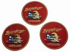 Baywatch Lifeguard Embroidered Iron On Patch Set of 3 Patches