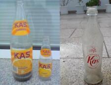 Lote3 Botellas refresco KAS antigua (1de Litro+1botellín serigrafiado+1botellín)