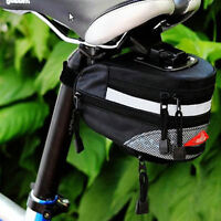 New Black Cycling Bike Bicycle Outdoor Pouch saddle seat bag Quick Release