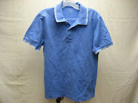 Banana Republic Men's M Medium Blue White Stripes Polo Short Sleeve Shirt