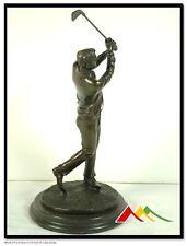 Golfer Statue Real Bronze Sculpture Figurine