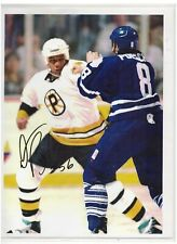 DARREN BANKS SIGNED BOSTON BRUINS 8x10 NHL FIGHT PHOTO AUTOGRAPH AHL PROVIDENCE