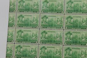 1936/37 FULL SHEET US STAMP $.1 CENT SCOTT # C790 JOHN PAUL JONES JOHN BARRY