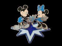 Disney  DLP - 25th Anniversary - Mickey and Minnie on a Star Glitter 3D Pin