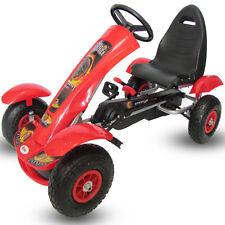 Kiddo Deluxe Design Red Kids Childrens Pedal Go-Kart Ride-On Rubber Wheels