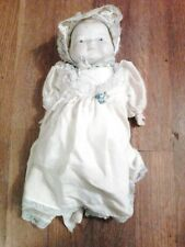 "Antique Chalk Baby Doll, 10 1/2"" Tall, Over 80 Years Old"