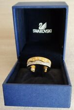 Swarovski Silver and Gold Wave Rings UK Size N1/2 5g