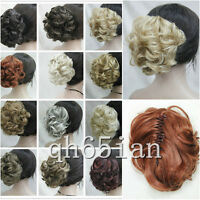Short Curly Wavy claw clip ponytail hair pieces wig cosplay