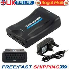 SCART a HDMI Audio Video Converter Scaler Smartphone CRT TV DVD SKY Box PS3
