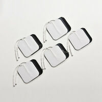 10X White Replacement Tens ELECTRODE PADS Massage Electrode Tens Units 5x5cmA*