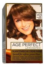 L´Oréal Excellence Age Perfect 5.03 Zart Goldenes Braun Haarfarbe Loreal