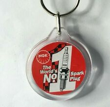 Vintage NGK Spark Plug Advertising promotional key ring keyring