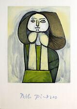 Pablo Picasso - Portrait de Femme a la Robe - 1982 Lithograph Art Print