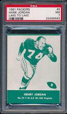 1961 Lake to Lake Packers #8 Hank Jordan PSA 7 (FB01)