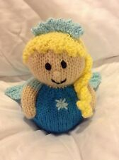 KNITTING PATTERN Frozen inspired snow chocolate orange cover or toy in Elsa blue