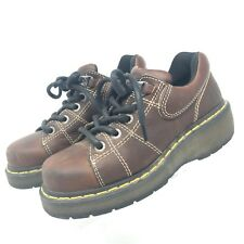Dr. Martens Brown Leather Stitched Lace Up Boots Style 9806 Women's Size 7