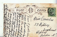 Genealogy Postcard - Family History - Coombes - Highbury - London N  GN862