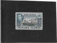 FALKLAND ISLANDS 1938-1950  9d. R.R.S.WILLIAM SCORESBY SG.157 NICE MOUNTED MINT