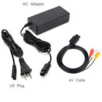 AC Adapter Power Supply & AV Cable Cord For Nintendo Gamecube New GC Charger Lot