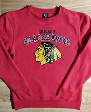 Majestic NHL Chicago Blackhawks Mens Sweatshirt Track Jacket Red Big Logo