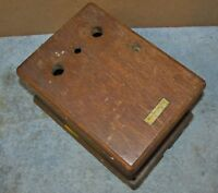 Vtg WESTERN ELECTRIC 315H Empty Wood Wind Up/Crank Telephone Ringer Box J40