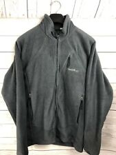 Mont Bell Womens Gray CLIMAPLUS  Zip Front Fleece Jacket Large
