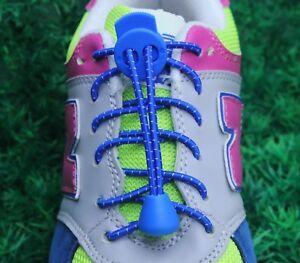 Elastic Shoelaces Lock Laces No Tie Triathlon Running Jogging Elasticated Lace