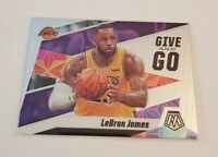 R44,371 - 2019-20 Panini Mosaic Give and Go #8 LeBron James Lakers