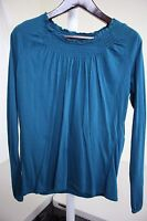 Merona Rayon & Cotton Blend Aqua Long Sleeve Knit Top Size - XL