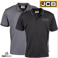 JCB Trade Performance Heavyweight Mens Short Sleeve Polo Shirt Work Top T-Shirt