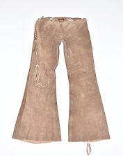 "Vintage Marrón Cuero Arden B Bootcut Damas Jeans pantalones pantalones tamaño W32"" L32"""