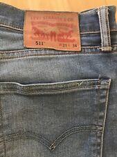 Levis 511 Slim Fit Jeans W31 L34  Blue Original Used Look