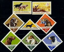 1965 Hunting Dogs,Fox terrier,Cocker,Chiens,Setter,perros,Romania,2470,CV$13,MNH
