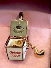 Juicy Couture Chinese Takeout Box Charm RARE GOLD
