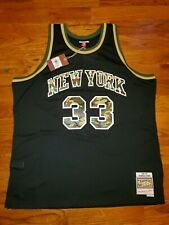 NWT New York Knicks Patrick Ewing Mitchell&Ness Camo Army Jersey 1991-92 Sz 3XL