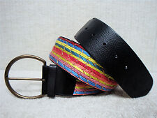 CHICO'S - Women's Casual Fashion Belt - Black & Multi Color Design - Size M