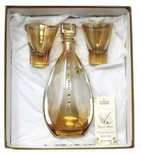 Beautiful Elegant Crystal Wine Liquor Decanter Bottle w/ Glass Stopper & Glasses
