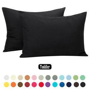 """Small Travel 13""""x 18"""" 24 Color Allergy Pillowcase with Zipper Barrier Protection"""