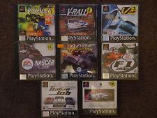 PS1 RACING GAMES PS1 PS2 PS3 Porsche/F1/Rally/007/Italian Job *Manuals Included*
