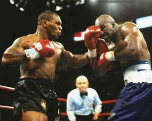 MIKE TYSON vs EVANDER HOLYFIELD 8X10 PHOTO BOXING PICTURE ACTION