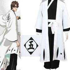 Death 5th Division Captain Aizen Sousuke Bleach Cosplay Costume Any Size Uniform