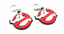 2 X GHOSTBUSTERS  NO GOST  RUBBER KEYCHAIN KEY RING