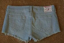 TRUE RELIGION BOBBY CUT-OFF Frayed Sexy Short Shorts 31 NWOT$289 RARE SAMPLE!
