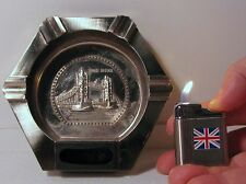 Metal Ashtray + Refillable Lighter Tower of London