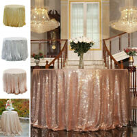 Sparkly Sequin Tablecloth Cover Wedding Banquet Party Decor Dinning Table Cloth