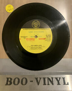 "Blackfoot Sue - You Need Love - Advance Promo 7"" Single (1974) Vg+"