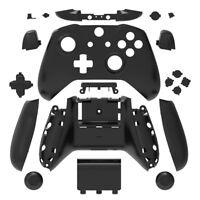 Black Matt Xbox One S Controller Full Custom Replacement Shell Case Mod Kit Set